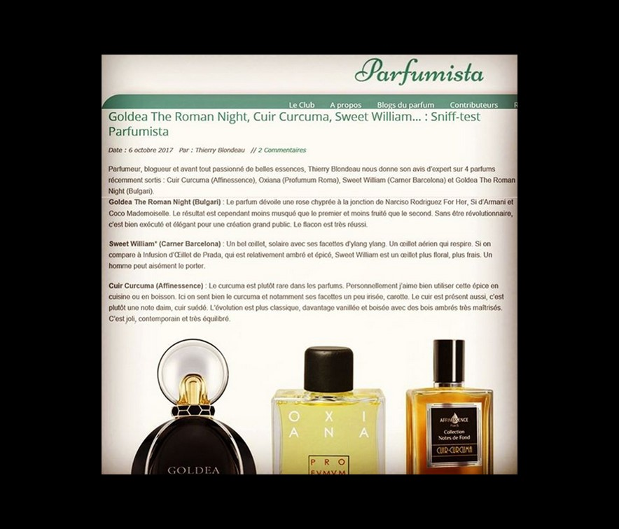 PARFUMISTA expert opinion on CUIR-CURCUMA