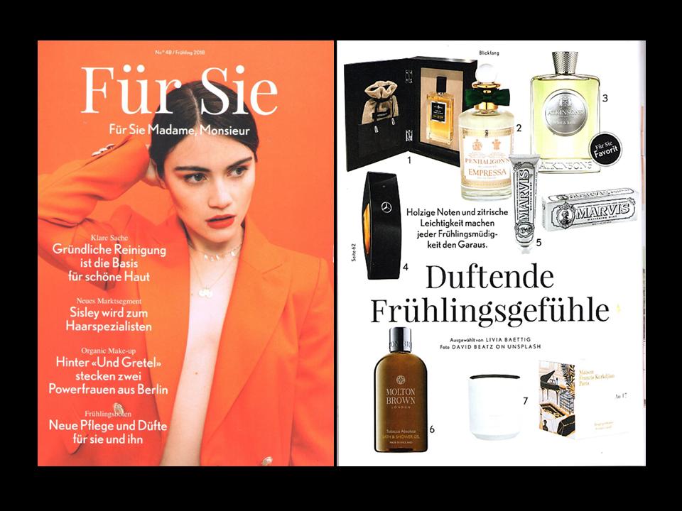 SUISSE Fur Sie Magazine AFFINESSENCE CUIR-CURCUMA