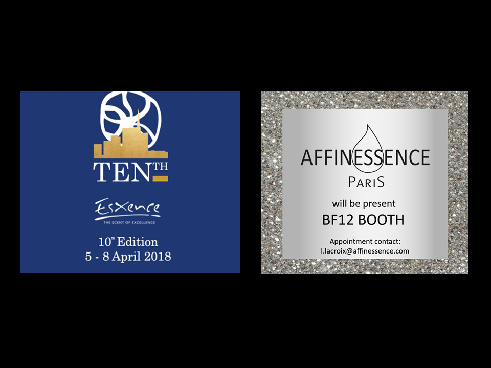 AFFINESSENCE AT ESXENCE 2018 MILANO ITALIAN NICHE PERFUMERY FAIR  Booth BF12