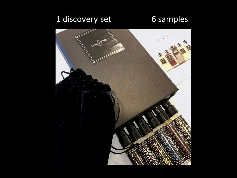 AFFINESSENCE DISCOVERY SET 6 x 2 ml samples, ideal to discover our fragrances!