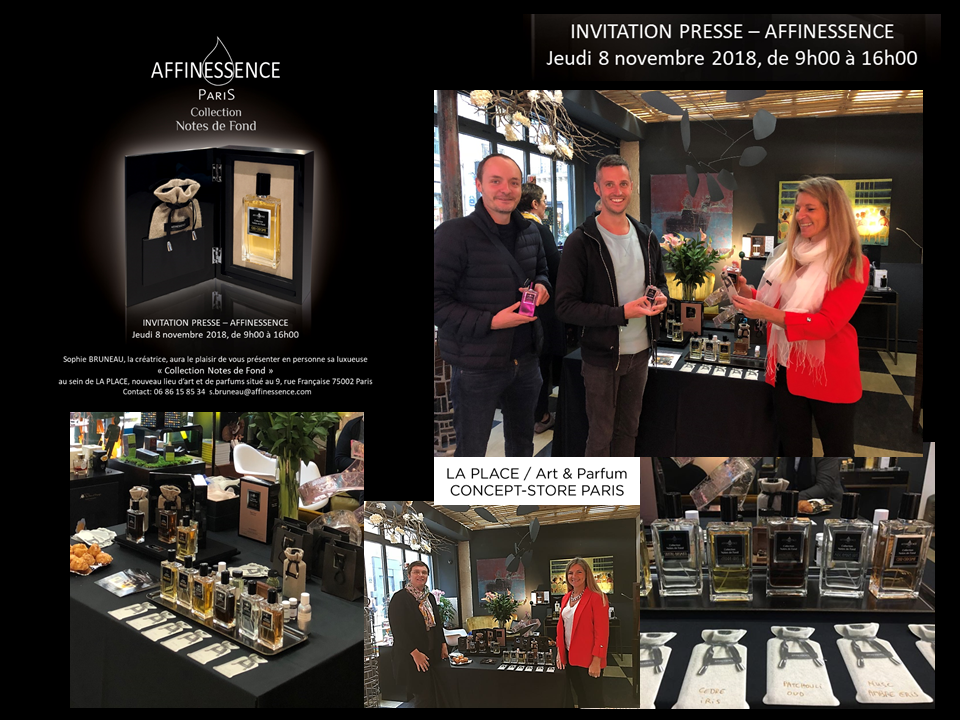 PRESENTATION PRESSE AFFINESSENCE 8 NOV 2018 LA PLACE PARIS