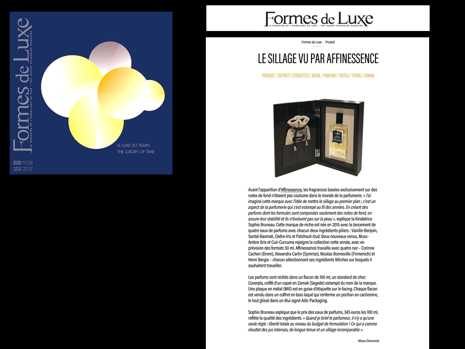 FORMES DE LUXE AFFINESSENCE