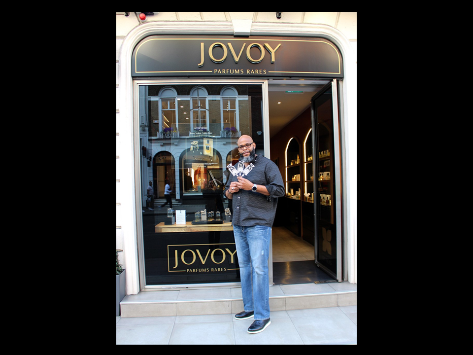 JOVOY Mayfair event 20/04/19 AFFINESSENCE Window Mr Cologne