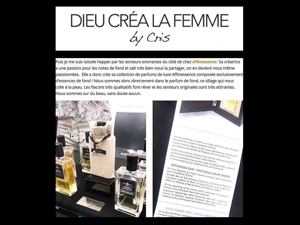 ET DIEU CREA LA FEMME découvre AFFINESSENCE - Beauty press day