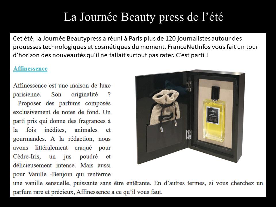 FRANCE NET INFOS news parfums AFFINESSENCE
