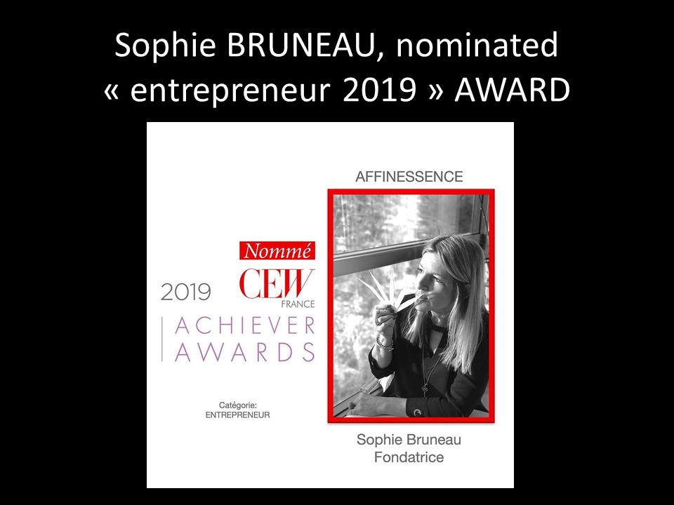 Sophie BRUNEAU nominated AWARD