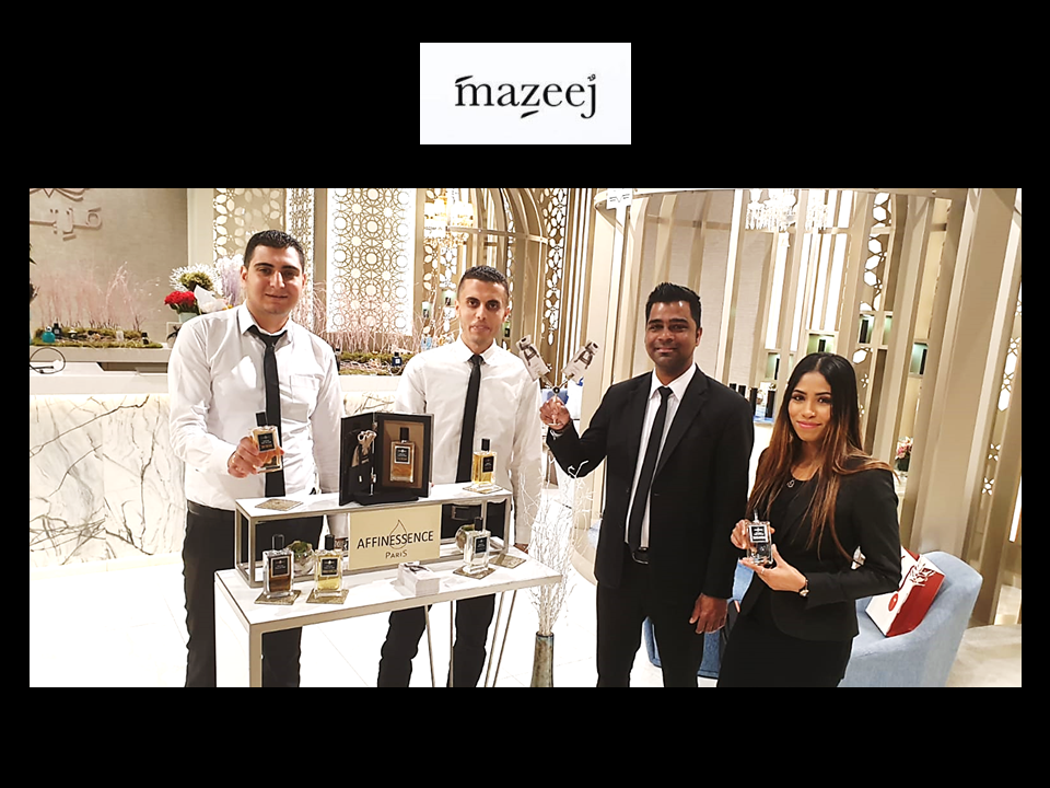 MAZEEJ the avenues perfume team with AFFINESSENCE in KUWAIT!