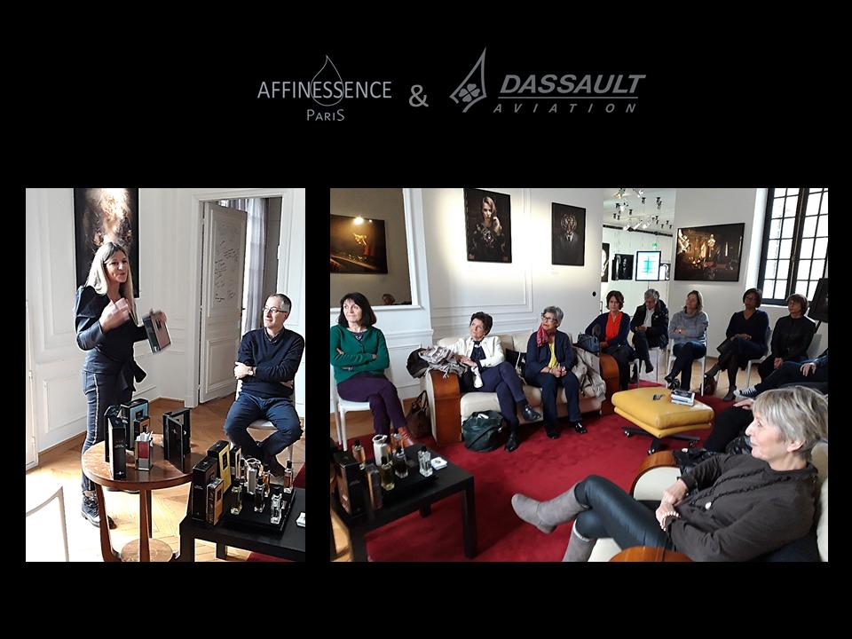 Des passionnés de Parfums de chez Dassault en visite chez AFFINESSENCE !