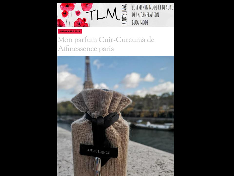 Trendys le mag, le féminin mode et beauté by Mitra - elle a choisi CUIR-CURCUMA à Paris !