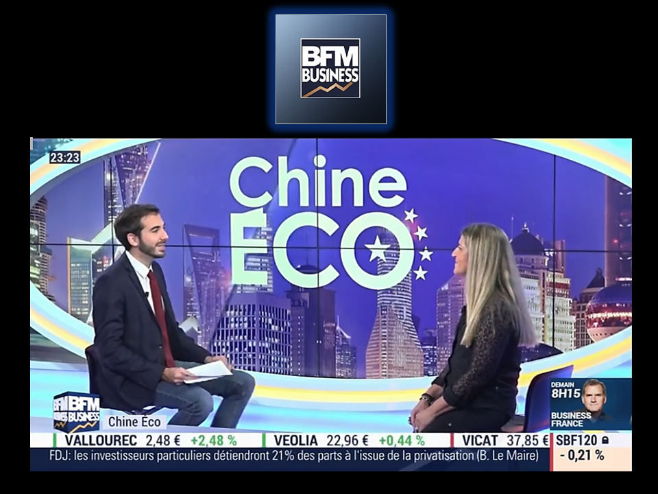 TV BFM BUSINESS chine eco interview Sophie BRUNEAU AFFINESSENCE