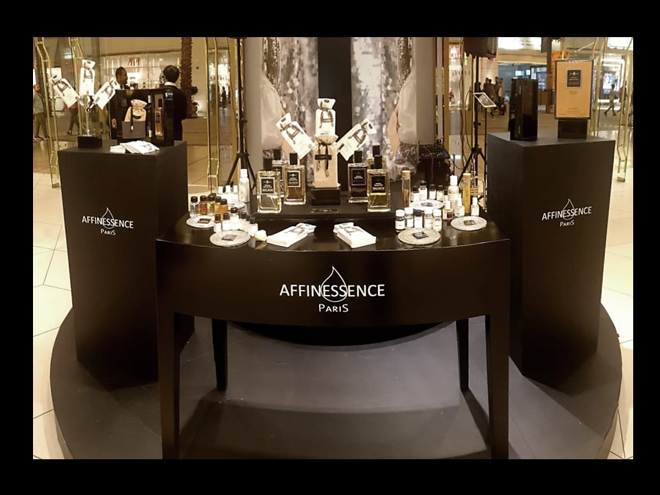 HARVEY NICHOLS KUWAIT event Nov 2019 Affinessence Collection Notes de Fond niche perfume luxury