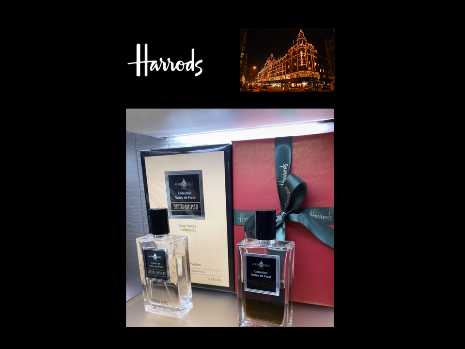 SANTAL-BASMATI and PATCHOULI-OUD AFFINESSENCE at HARRODS oct 2020