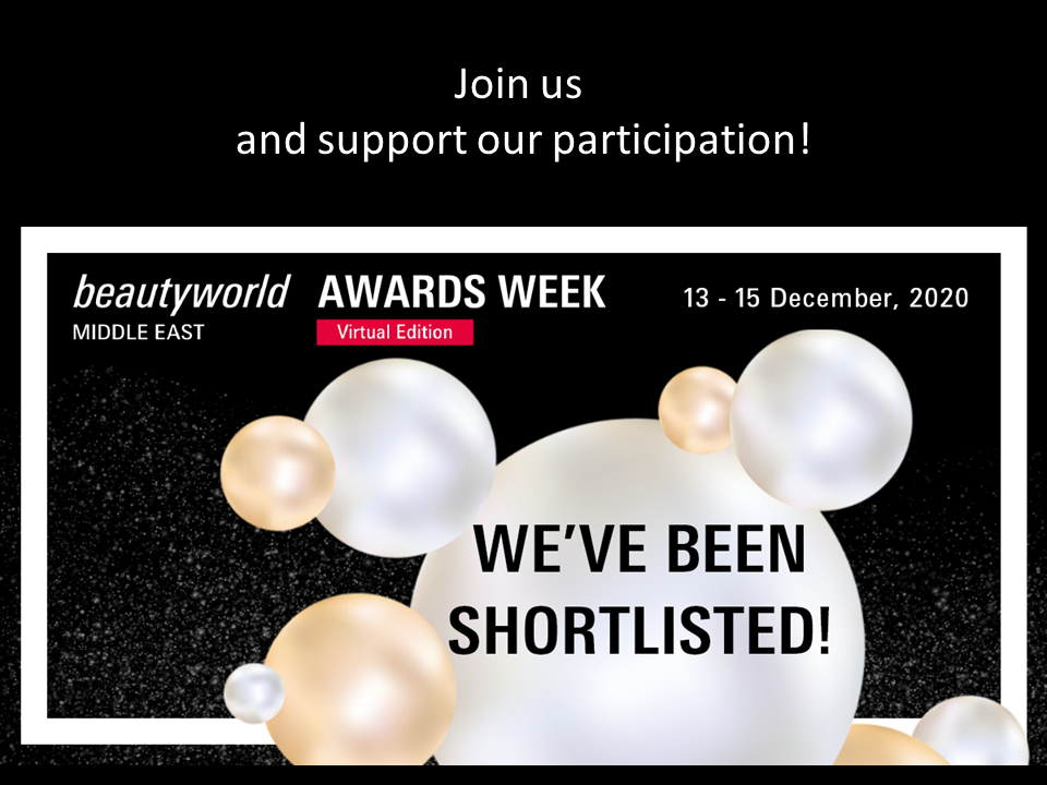 BeautyWorld Middle East AWARDS WEEK with AFFINESSENCE FINALIST on 14th December