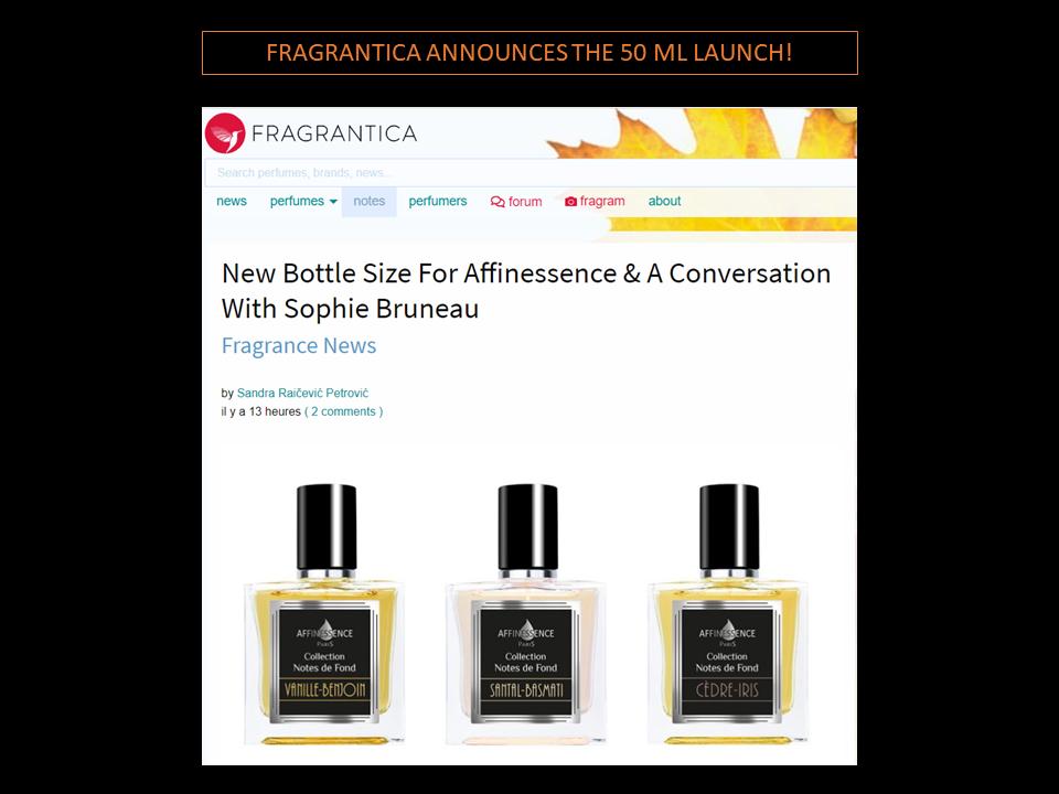 FRAGRANTICA ANNOUNCES THE 50 ML LAUNCH